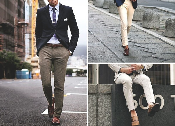 Brown Shoes With Grey Pants Mens Style