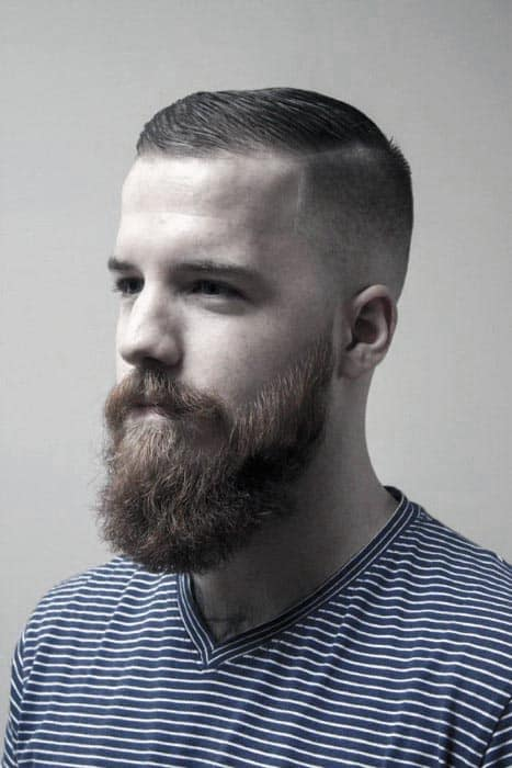 Brown Short Hair With Beard Mens Style Ideas