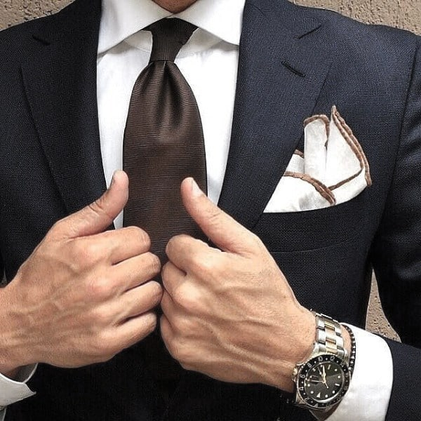 Brown Tie Guys Outfits Navy Blue Suit Ideas