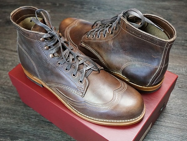 8e723155f2f Men's Wolverine Addison 1000 Mile Wingtip Boots Review - USA Made ...