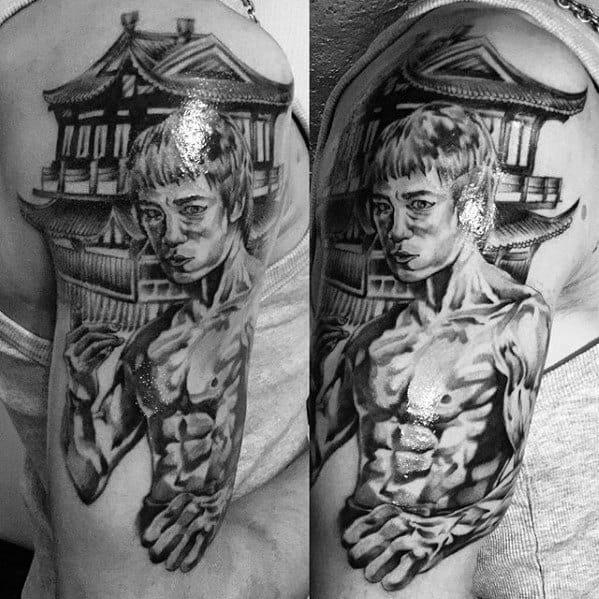 Bruce Lee Arm Tattoo Ideas For Gentlemen