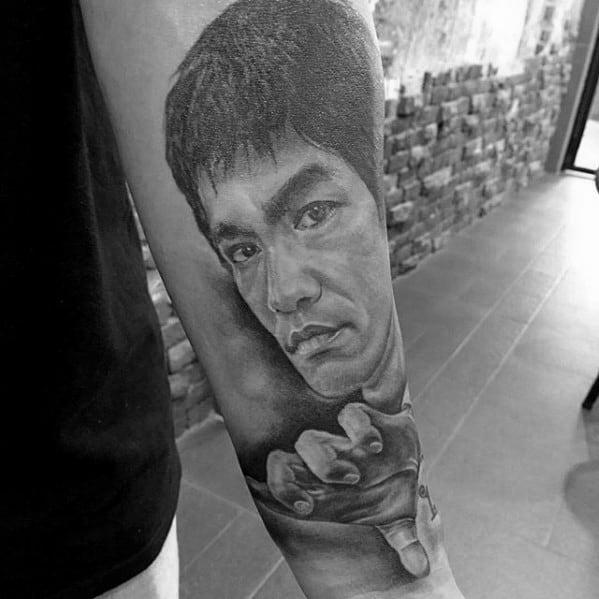 Bruce Lee Tattoo Design Ideas For Males Inner Forearm