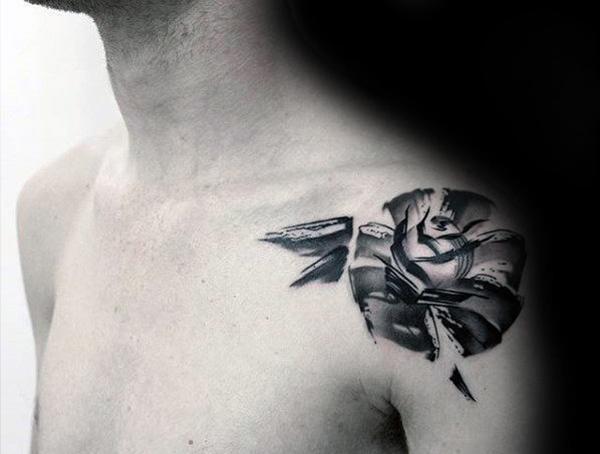 Brush Stroke Tattoo Style Ideas For Men