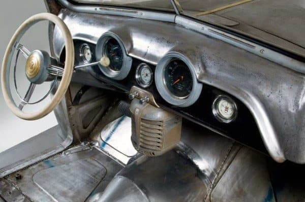 Brushed Steel Dashboard Rat Rod Interiors
