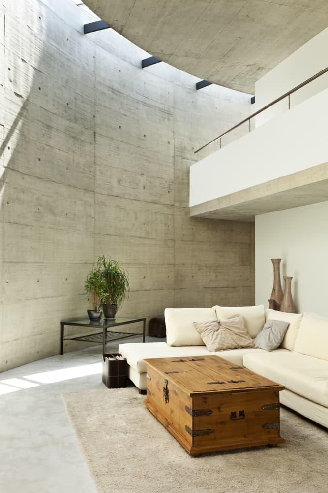 Brutalist Minimalist Living Room 1