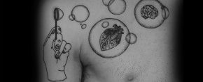 30 Bubble Tattoos For Men – Circular Design Ideas