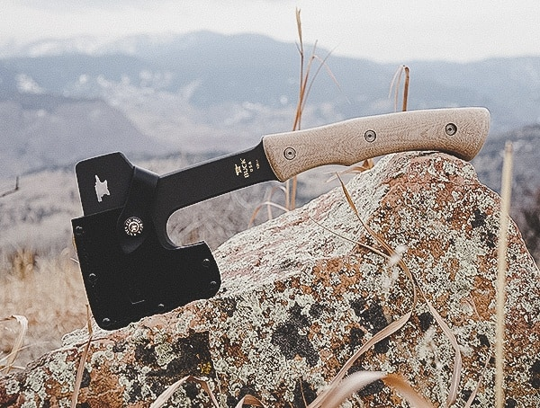 Buck Knives Compadre Camp Axe On Mountain Rock