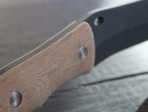 Buck Knives Compadre Froe Knife Handle And Blade Detail