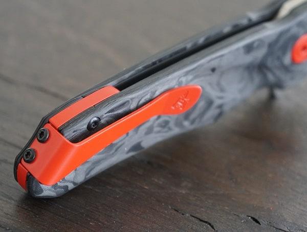 Buck Knives Sprint Pro Usmc Red Cerakote Coated Stainless Steel Pocket Clip