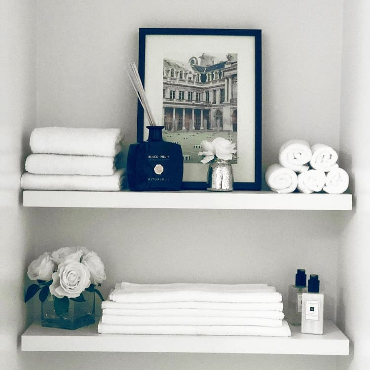 Budget Neutral Decor Towel Storage Shelf Hibaqmurad