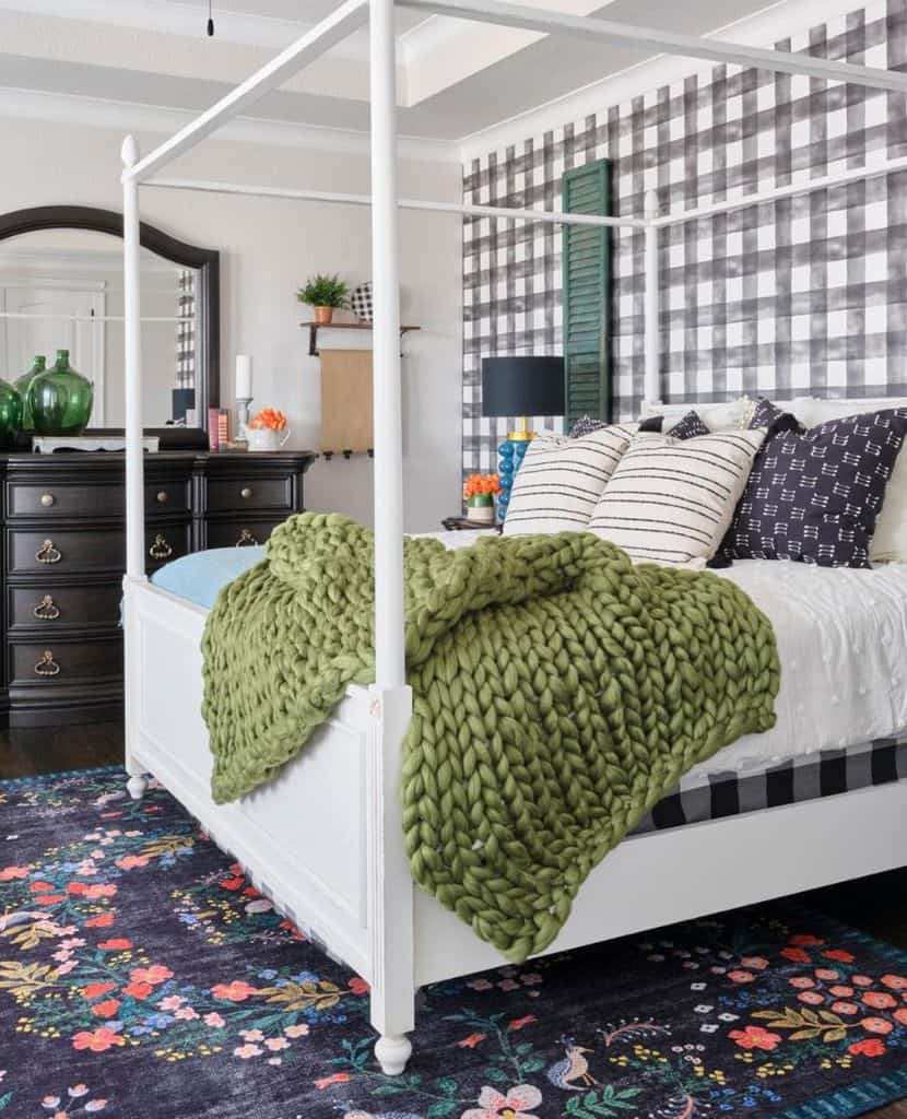 buffalo print farmhouse bedroom ideas courtneywarrenhome