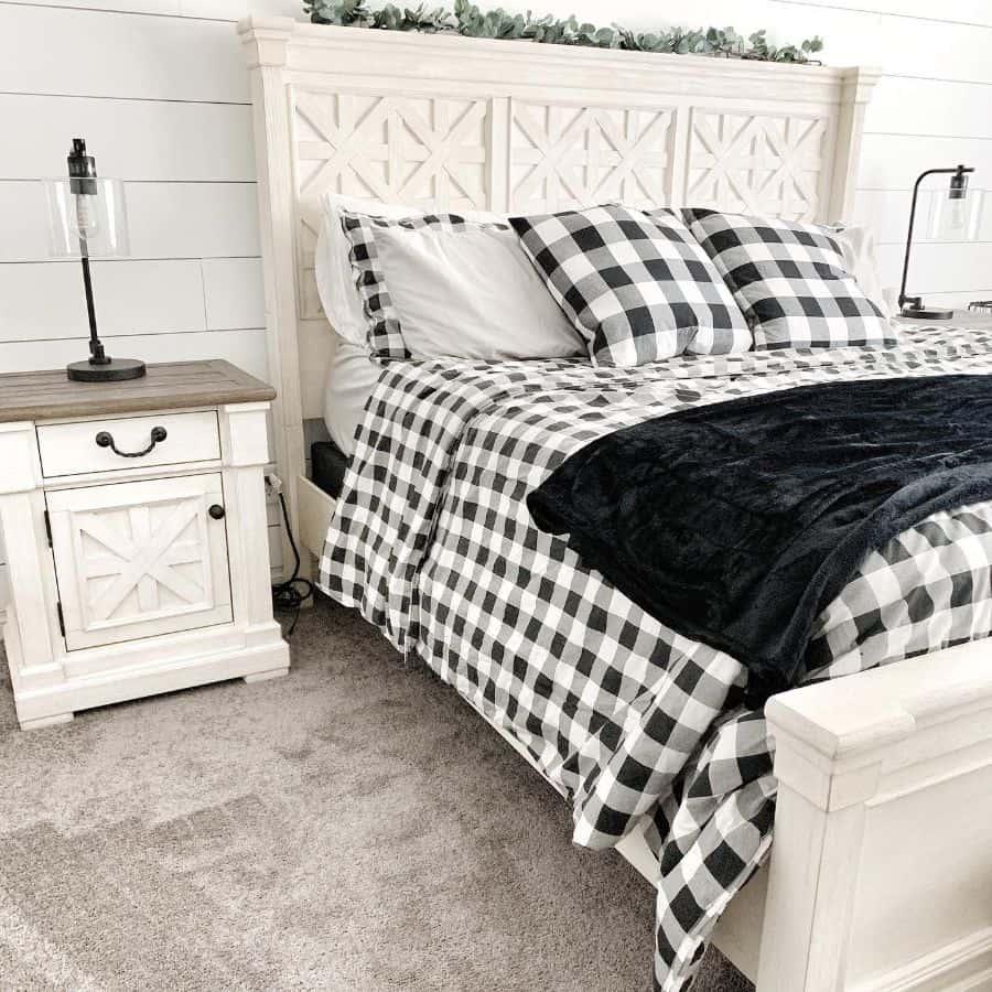 buffalo print farmhouse bedroom ideas fauxfarmhouse