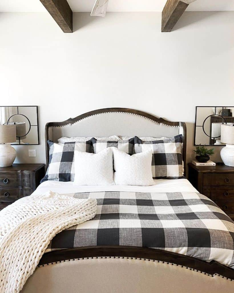 buffalo print farmhouse bedroom ideas ourpnw_home