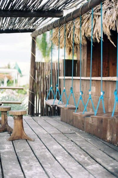 Building Outdoor Bar Ideas Rope Swings