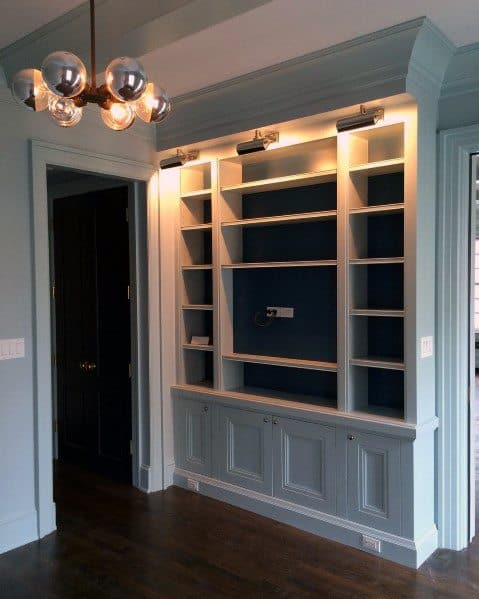 Built In Bookcase Crown Molding Home Ideas
