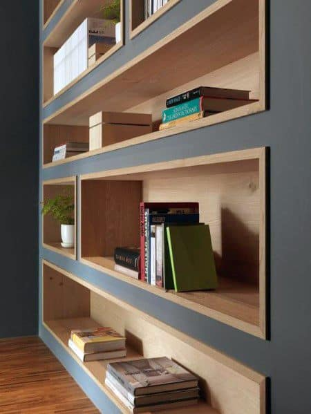 Built In Bookcase Ideas With Wood Trim
