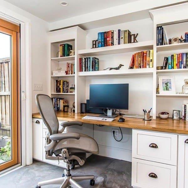 Top 50 Best Built In Desk Ideas Cool