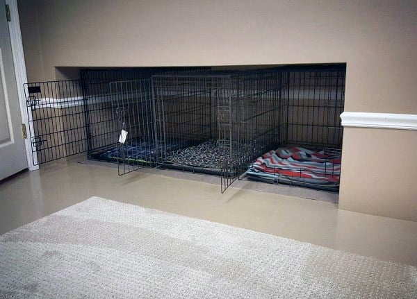 Built In Crates Dog Room