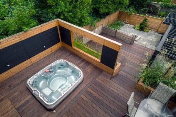 Built In Design Ideas Hot Tub Deck