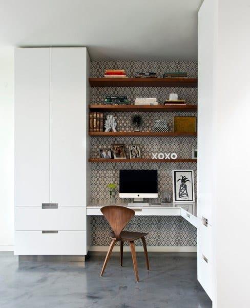 Built In Kitchen Desk Ideas
