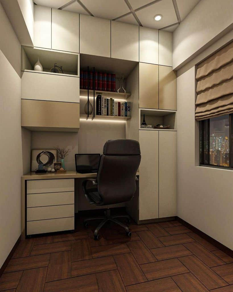built in office storage ideas studio.maira