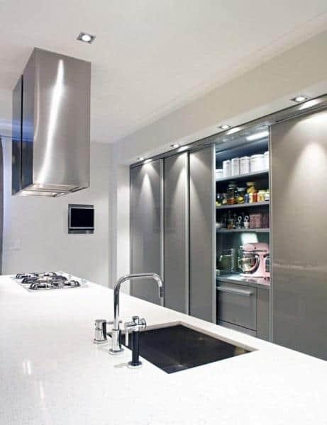 Built In Sliding Kitchen Pantry Ideas