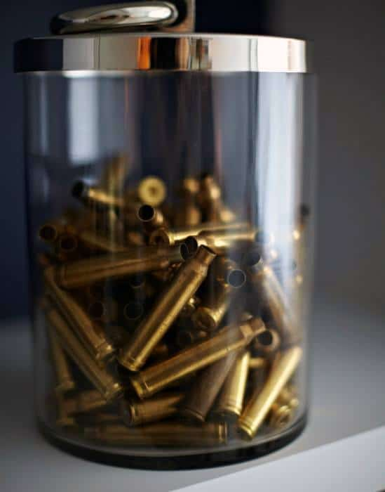 Bullet Casing Inside Of Glass Jar Cool Bachelor Pad Decor