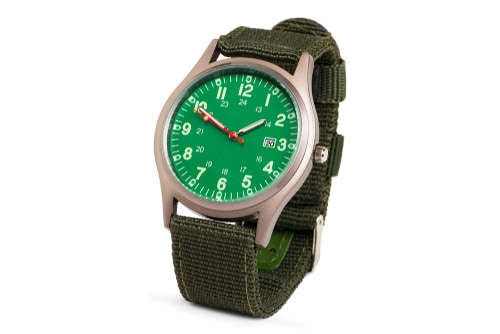 Bulova 96b229 Analog Display Japanese Quartz Mens Green Cool Watches