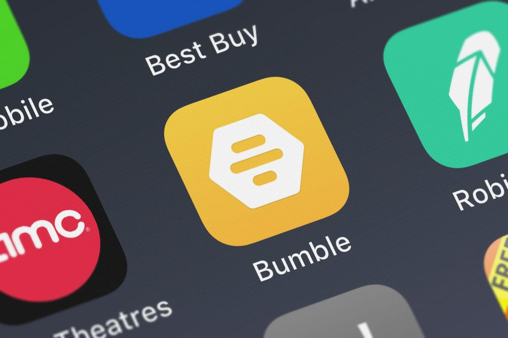 bumble app on mobile phone