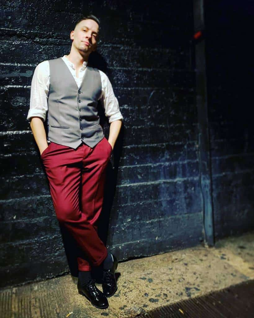 Burgundy Pants Mens Street Style