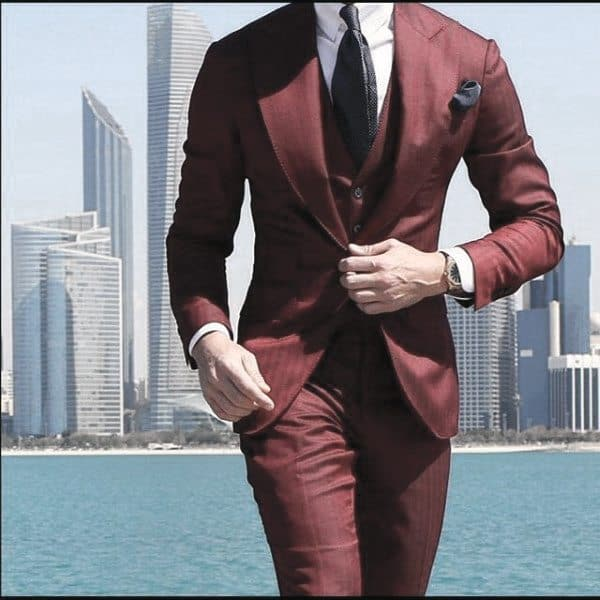 Burgundy Red Suit Trendy Outfits Mens Styles