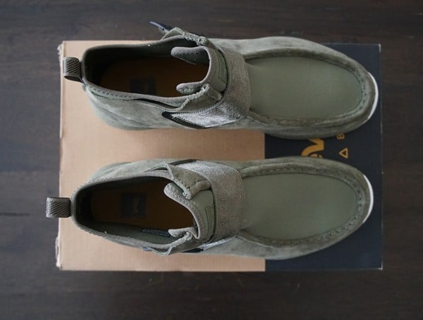 Burnt Olive Teva Peralta Chukka Boots For Men Top View