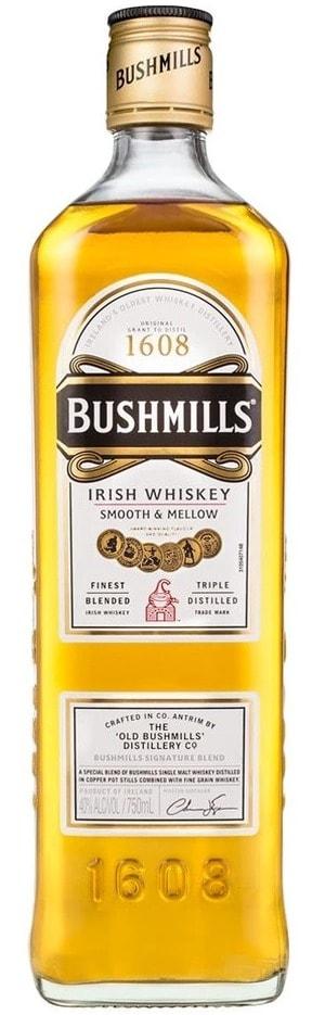 bushmills original irish whiskey bottle