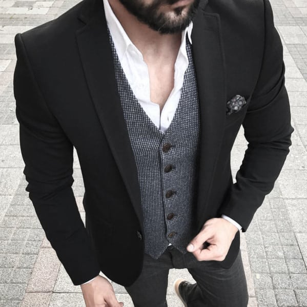 Business Casual Outfits Mens Style Ideas Black Blazer