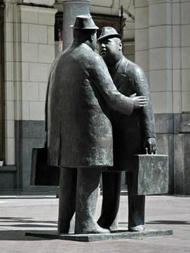 Businessmen Statue