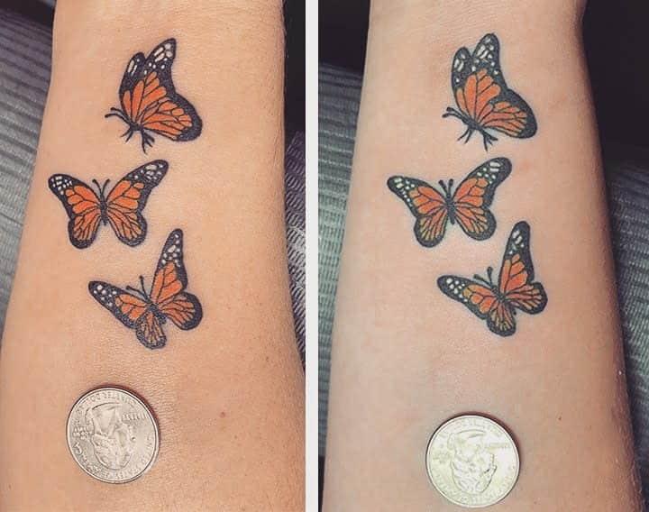 butterfly-monarch-matching-mother-daughter-tattoo-markfanara