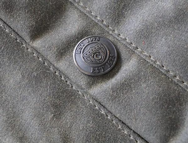 Button Closure Detail Mens Mountain Ranger Parka Olive