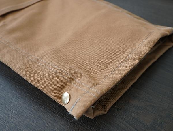 Button Leg Carhartt Quilt Lined Zip To Thigh Bib Overalls