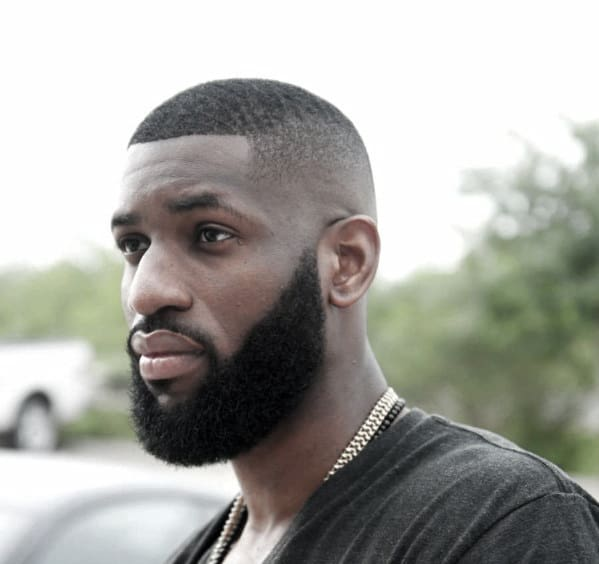 Buzzed Haircut With Beard Style For Men