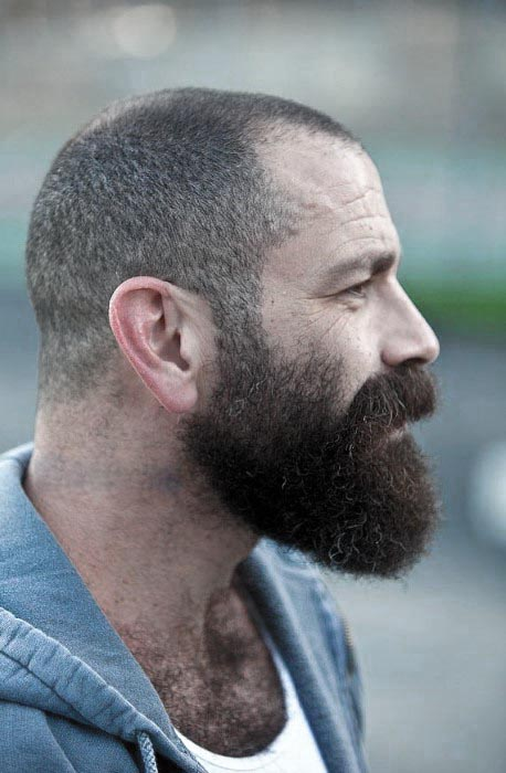 Buzzed Short Hair With Medium Beard Styles For Guys