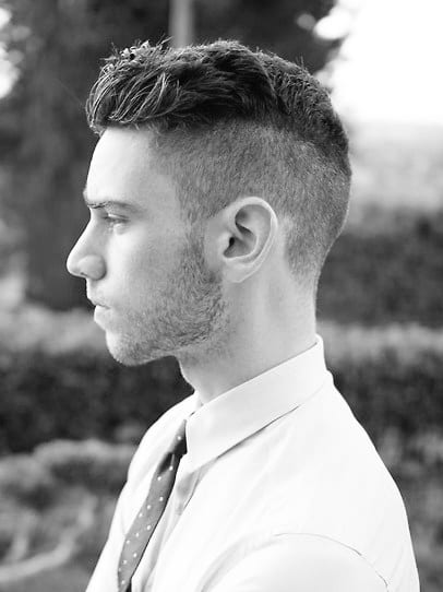 Buzzed Side Short Hairstyles For Men