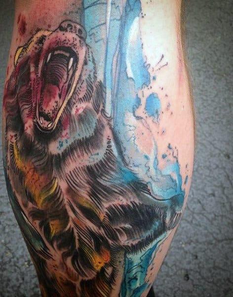 CA Bear Men's Tattoo