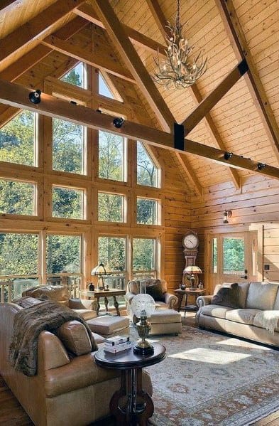 Cabin All Wood Walls Luxury Vaulted Ceiling