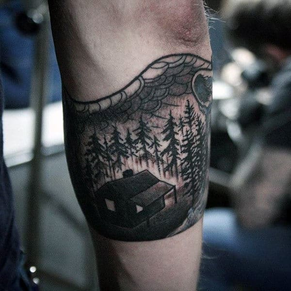 Cabin In The Woods Guys Armband Tattoos