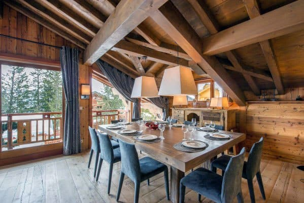 cabin rustic ceiling home ideas dining room - Rustic Ceiling Ideas