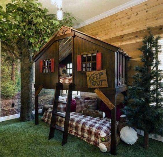 Cabin Themed Bunk Bed Ideas