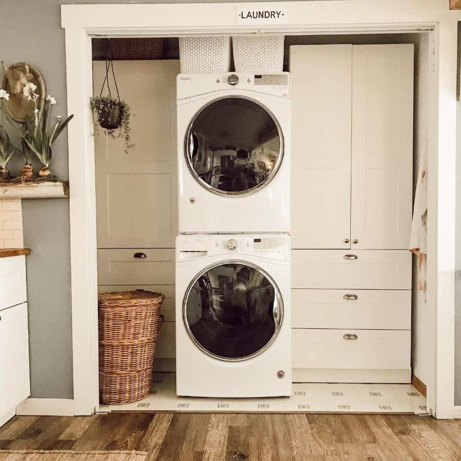 cabinet laundry closet ideas winterandsage