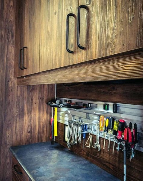 Cabinet Track System Garage Tool Storage Ideas