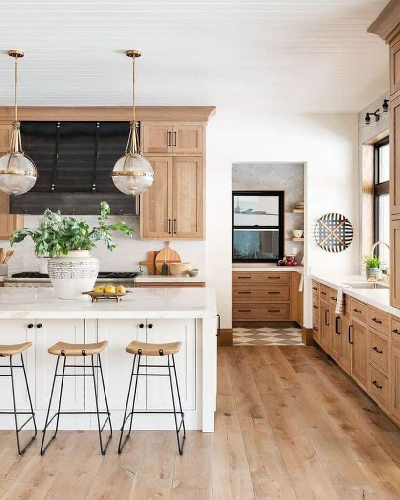 Cabinets And Shelving Modern Farmhouse Kitchen Designdream Home