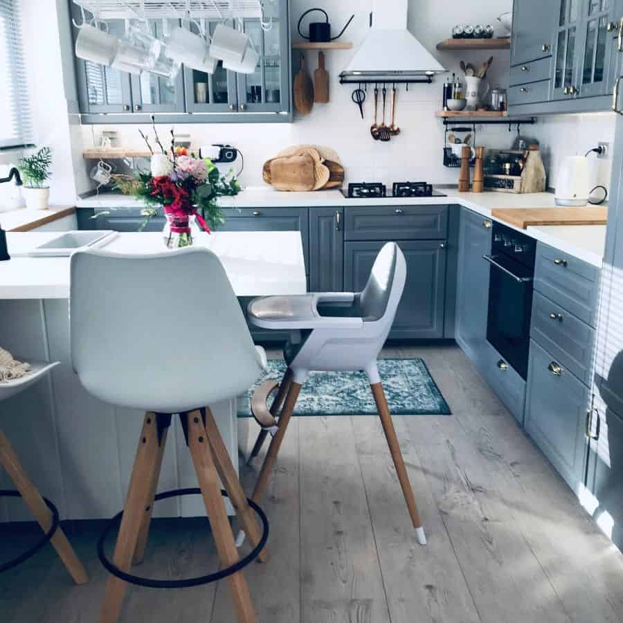 Cabinets And Shelving Modern Farmhouse Kitchen Myprettymess